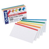 "100 Count 4"" x 6"" Ruled Index Card in White"