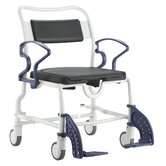 Dallas Shower Commode Chair in Grey / Blue
