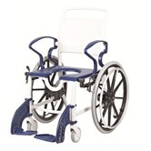 Luebeck Shower Chair in Grey / Blue