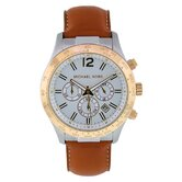 Men's Classic Watch with White Chronograph Dial