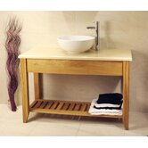 Aquarius Bathroom Double Wash Stand with Shelf
