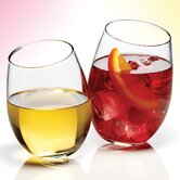 4 Piece Stemless Wine Glasses