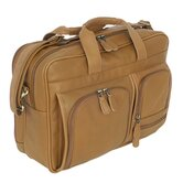 Sondrio Leather Multi-Pocket Attache in Brown