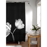 Tulip Photoreal PEVA Vinyl Shower Curtain in Black