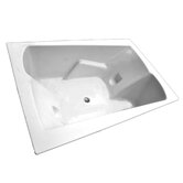 "71"" x 48"" Whirlpool and Air Massage Arm-Rest Bath Tub"