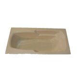 66&quot; x 32&quot; Soaker Arm-Rest Bath Tub