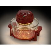 Halogen Tabletop Oven 12 qt. Red