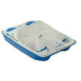 Sun Dolphin Three Person Pedal Boat in Cream / Blue