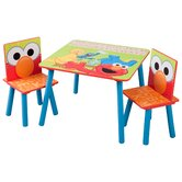 Sesame Street Kids' 3 Piece Table and Chair Set