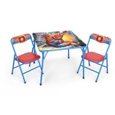 Marvel Spiderman Kids 3 Piece Square Table and Chair Set