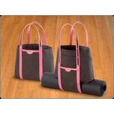 Convertible Tote in Black and Pink