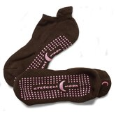 ExerSock Medium Yoga and Pilates Socks in Brown / Pink (3-Pack)