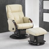 214 Monaco Glider with Open Base and Ottoman
