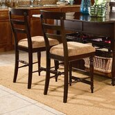 Gresham Park Ladder Back Counter Stool In Raisin (Set of 2)