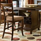 Urban Heights X-Back Counter Stool In Chocolate Cherry (Set of 2)