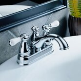 Leland Centerset Bathroom Faucet with Double Porcelain Lever Handles