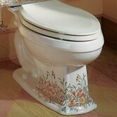 English Trellis Design on Portrait Toilet