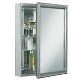 Single Door 20&quot; x 26&quot; Aluminum Medicine Cabinet with Decorative Frame