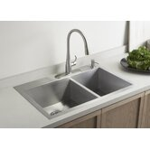 Vault Undermount Offset Kitchen Sink
