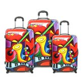 Jazz Red 3 Piece Luggage Set