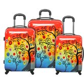 Sunset Tree 3 Piece Luggage Set