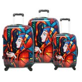 Lady in Forest 3 Piece Luggage Set