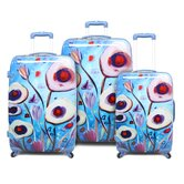 Sea Flower 3 Piece Luggage Set