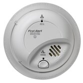 Combination Smoke and Carbon Monoxide Alarm with Battery Backup