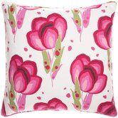 Bright Stuff Happy Poppies 18&quot; Decorative Pillow in Pink