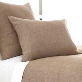 Chambray Linen Duvet Cover and Shams in Sable
