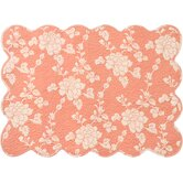 Madeline Quilted Placemats in Terracotta (Set of 4)