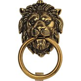 Brass Lion Door Knocker in Light Antique Brass