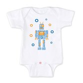 Noisy Robot Bodysuit For Boy in White