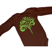 Tree of Life Chocolate Long Sleeve Bodysuit