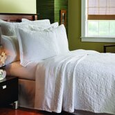 Matelassé Stone Washed Coverlet Collection in Grafix