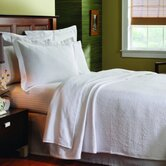 Matelass&eacute; Coverlet in Butterfield