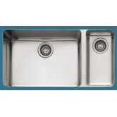 "Kubus 33"" Stainless Steel Double Bowl Kitchen Sink"