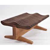Wave Walnut Bench