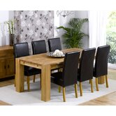 Madrid Chunky Solid Oak Dining Table with Rustique Chairs
