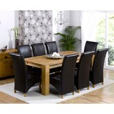 Madrid Chunky Solid Oak Dining Table with Barcelona Chairs