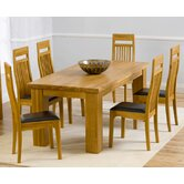 Barcelona Solid Oak Dining Table with Monte Carlo Chairs
