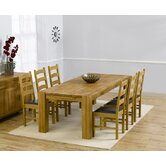 Madrid Chunky Solid Oak Dining Table with Valencia Dining Chairs