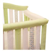 "Teething Guard in White and Green - 52"" x 6"""