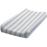Blue with Chocolate Stripes Changing Pad Cover
