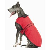 Belted Dog Coat in Red