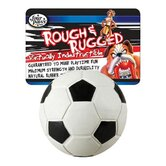 "2.75"" Rough and Rugged Soccer Ball with Bell Dog Toy"