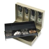 "Combination Lock Cash Box, Steel, 11-1/2""x7-3/4""x3-1/4"", Gray"