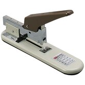Economy Heavy-Duty Stapler, 100 Sheet Cap, Putty/Brown