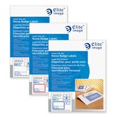 "Name Badge Labels, Laser/Inkjet, 3-3/8""x2-1/3"", 400/BX, WE Brdr"