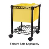 Compact Mobile Cart, 15-1/2&quot;x14&quot;x19-1/2&quot;, Black